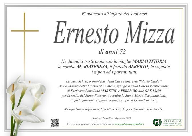 Necrologio di Ernesto Mizza