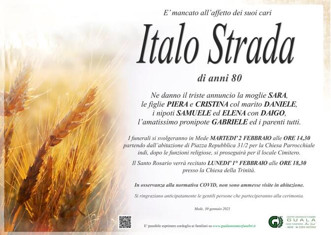 Necrologio di Italo Strada