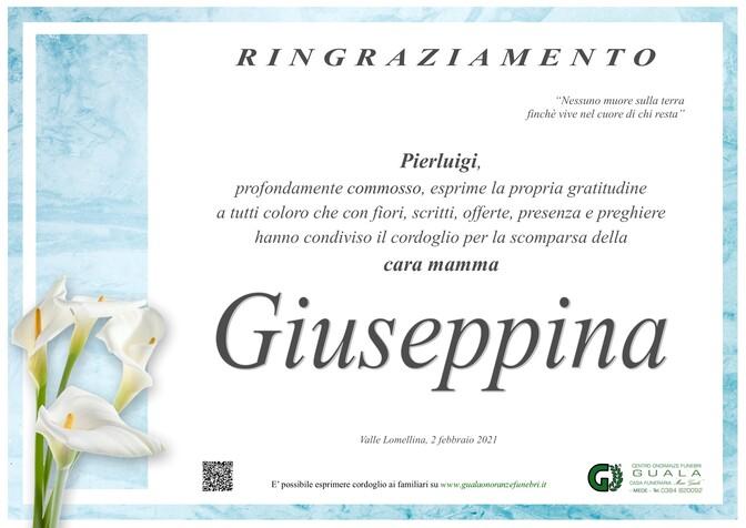 Ringraziamento per Giuseppina Maldifassi ved. Zuccotti