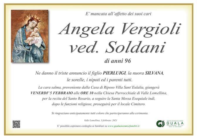 Necrologio di Angela Vergioli ved. Soldani
