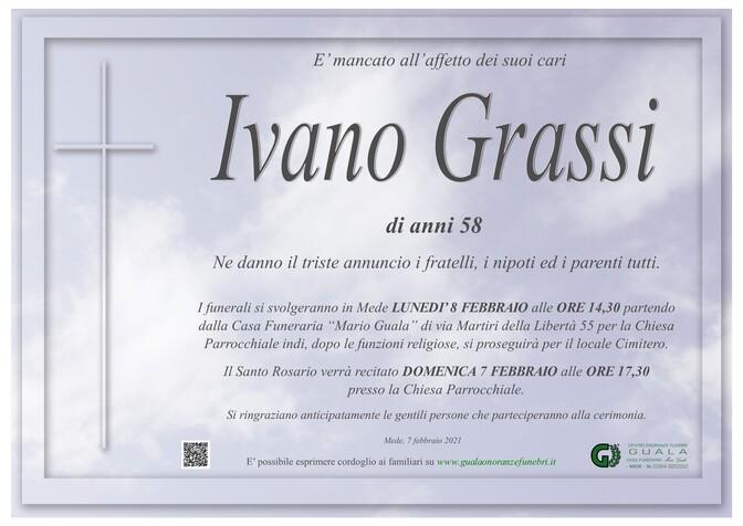 Necrologio di Ivano Grassi