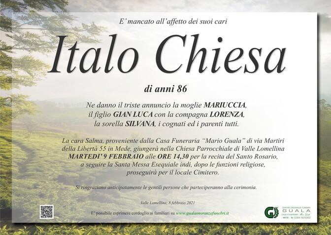 Necrologio di Italo Chiesa