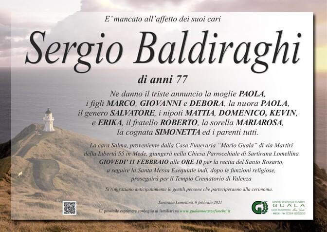 Necrologio di Sergio Baldiraghi