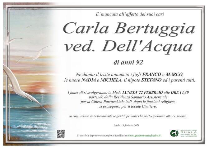 Necrologio di Carla Bertuggia ved. Dell'Acqua