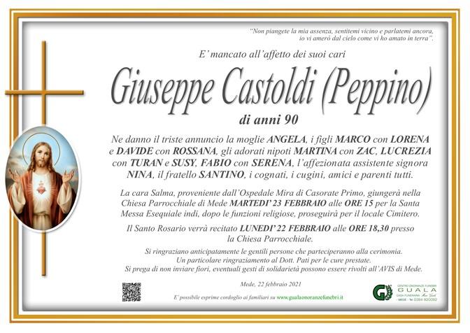 Necrologio di Giuseppe Castoldi (Peppino)
