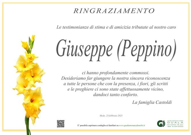 Ringraziamenti per Giuseppe Castoldi (Peppino)