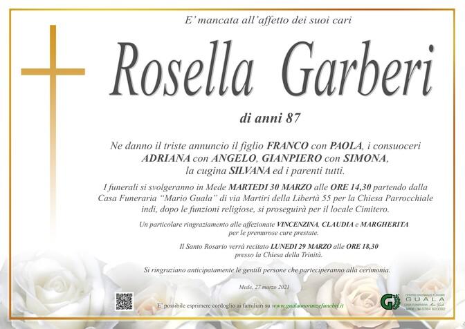 Necrologio di Rosella Garberi