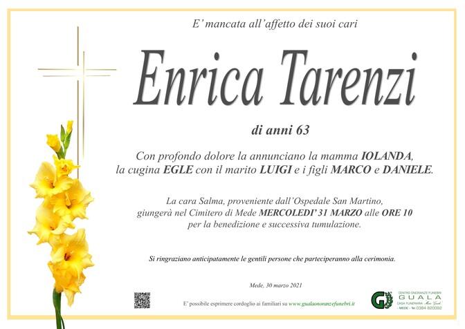 Necrologio di Enrica Tarenzi