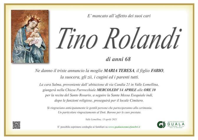 Necrologio di Tino Rolandi