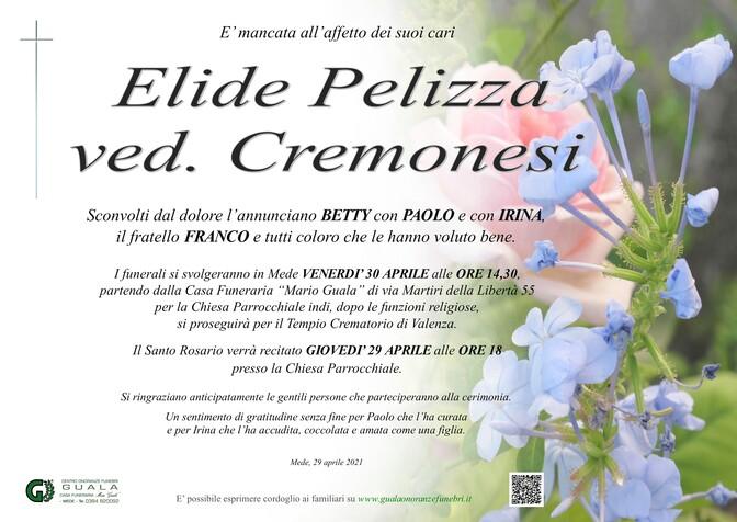 Necrologio di Elide Pelizza ved. Cremonesi
