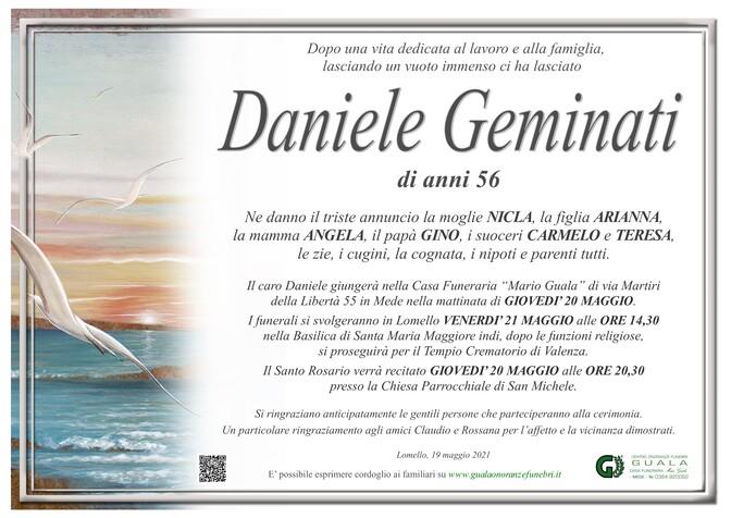Necrologio di Daniele Geminati