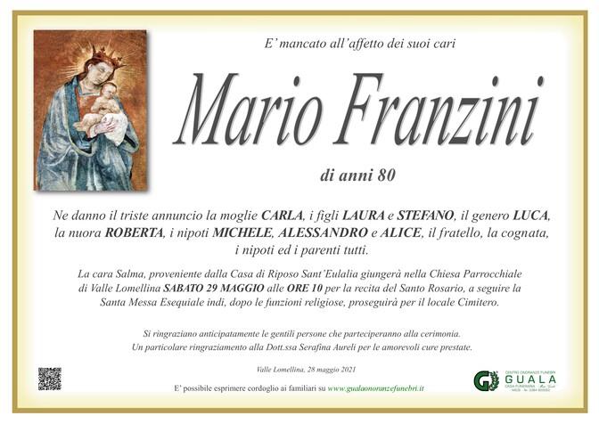 Necrologio di Mario Franzini
