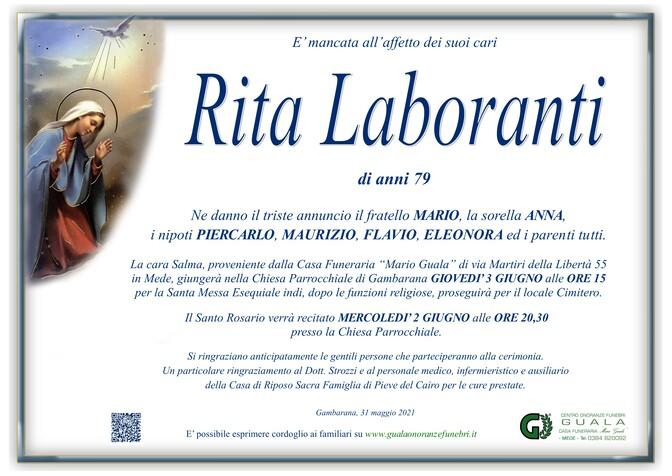Necrologio di Rita Laboranti