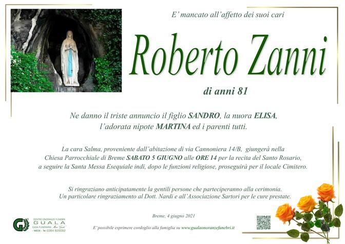 Necrologio di Roberto Zanni