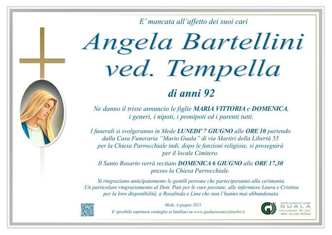 Necrologio di Angela Bartellini ved. Tempella