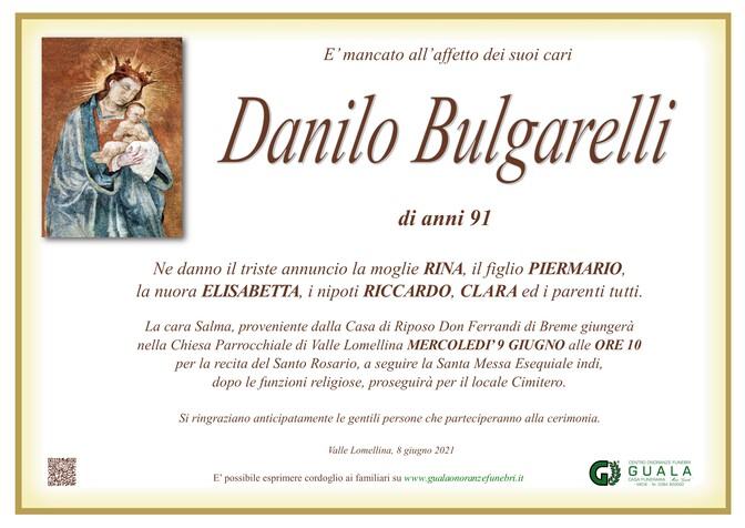 Necrologio di Danilo Bulgarelli