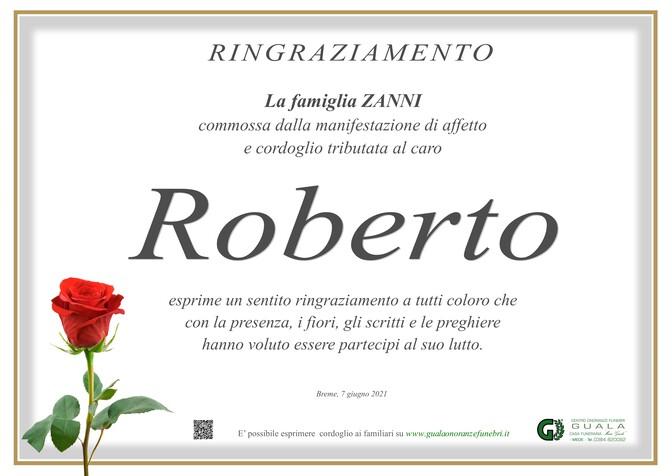 Ringraziamento per Roberto Zanni