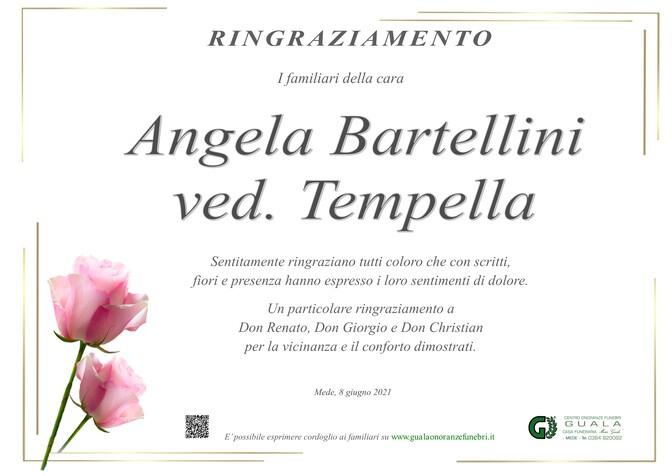 Ringraziamenti per Angela Bartellini ved. Tempella