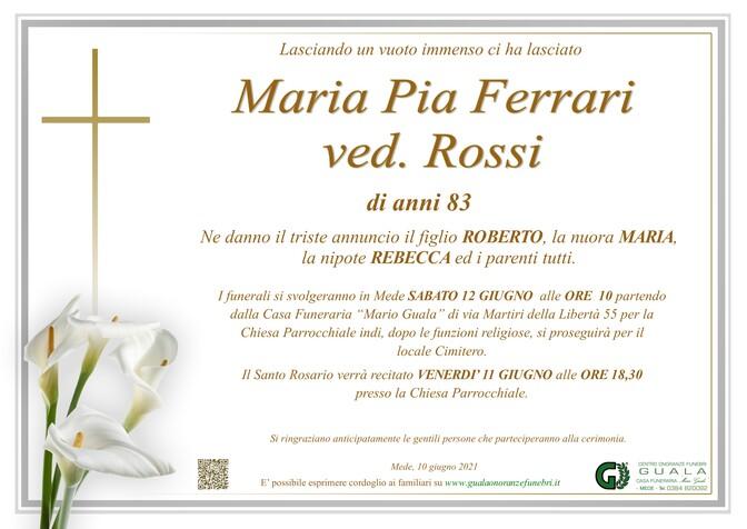 Necrologio di Maria Pia Ferrari ved. Rossi