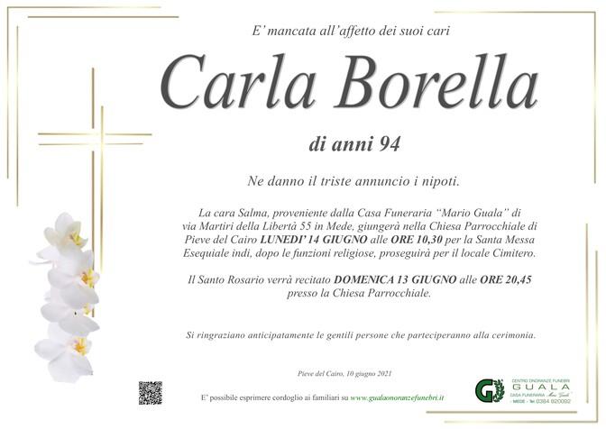 Necrologio di Carla Borella
