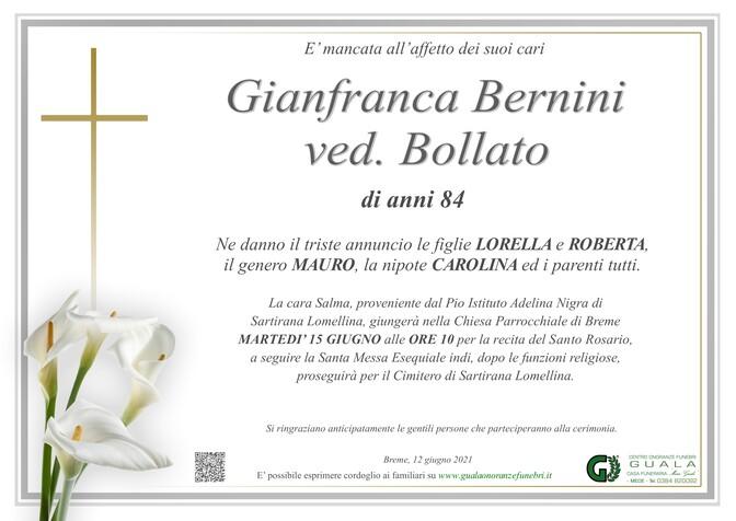 Necrologio di Gianfranca Bernini ved. Bollato