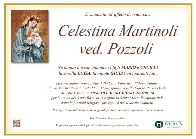 Necrologio di Celestina Martinoli ved. Pozzoli