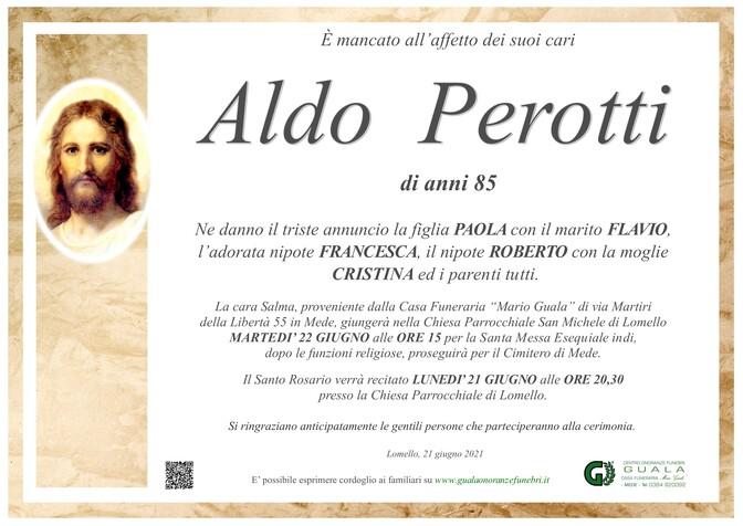 Necrologio di Aldo Perotti