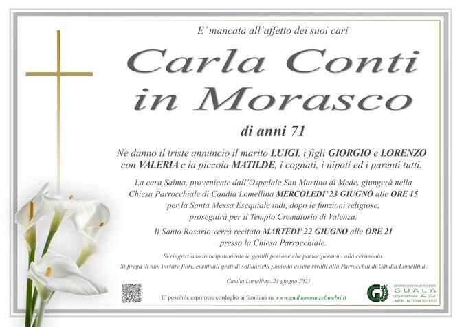 Necrologio di Carla Conti in Morasco