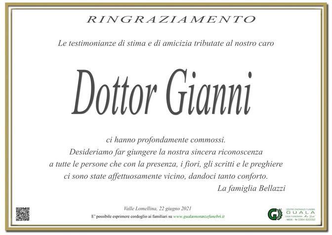 Ringraziamento per Dottor Gianni Bellazzi