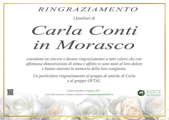 Ringraziamenti per Carla Conti in Morasco