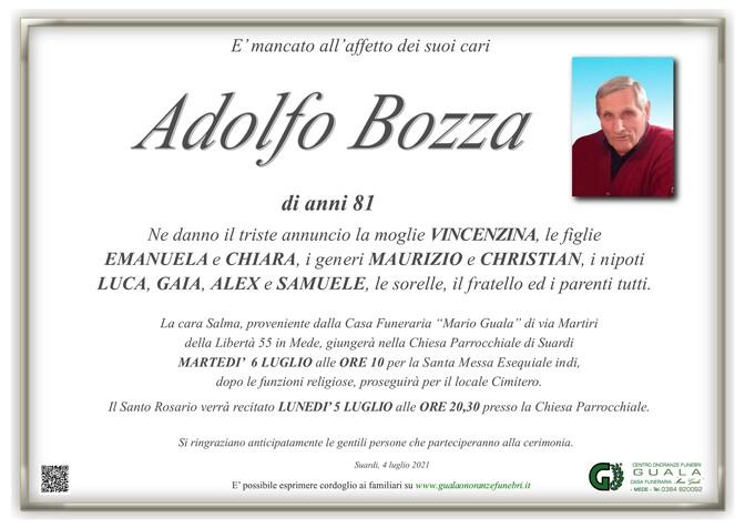 Necrologio di Adolfo Bozza