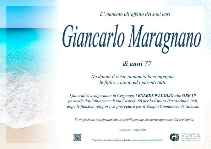 Necrologio di Giancarlo Maragnano