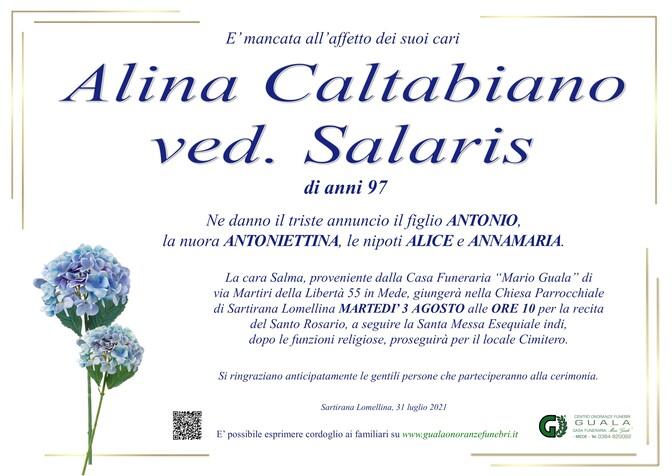 Necrologio di Alina Caltabiano ved. Salaris