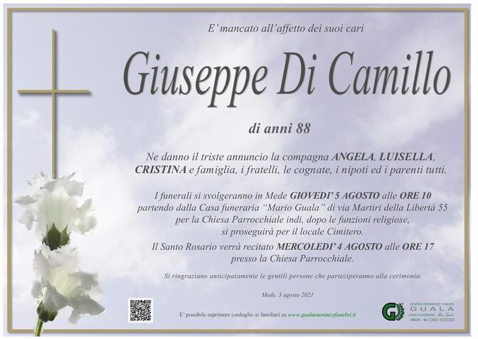 Necrologio di Giuseppe Di Camillo