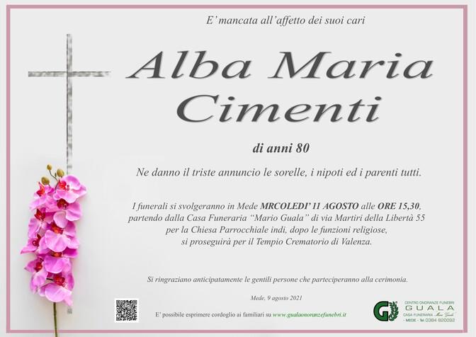 Necrologio di Alba Maria Cimenti
