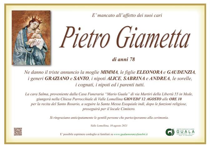 Necrologio di Pietro Giametta