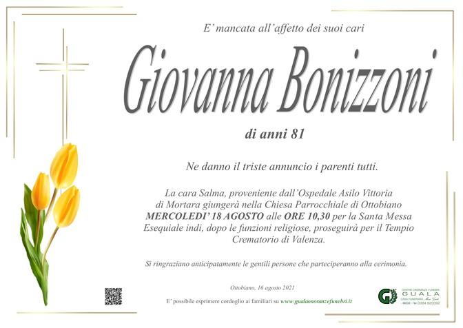 Necrologio di Giovanna Bonizzoni