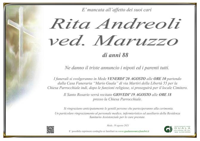 Necrologio di Rita Andreoli ved. Maruzzo