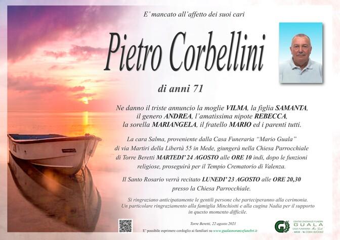 Necrologio di Pietro Corbellini