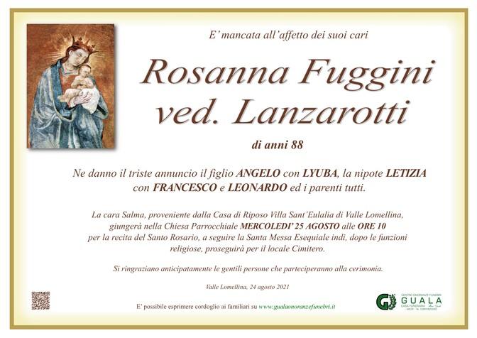 Necrologio di Rosanna Fuggini ved. Lanzarotti