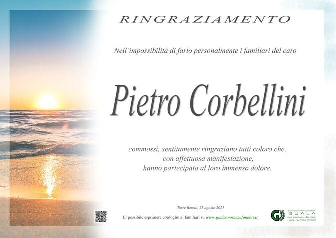 Ringraziamenti per Pietro Corbellini