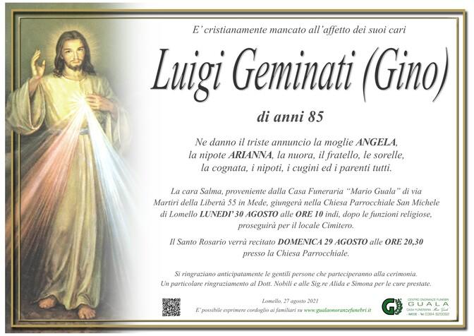 Necrologio di Luigi Geminati (Gino)