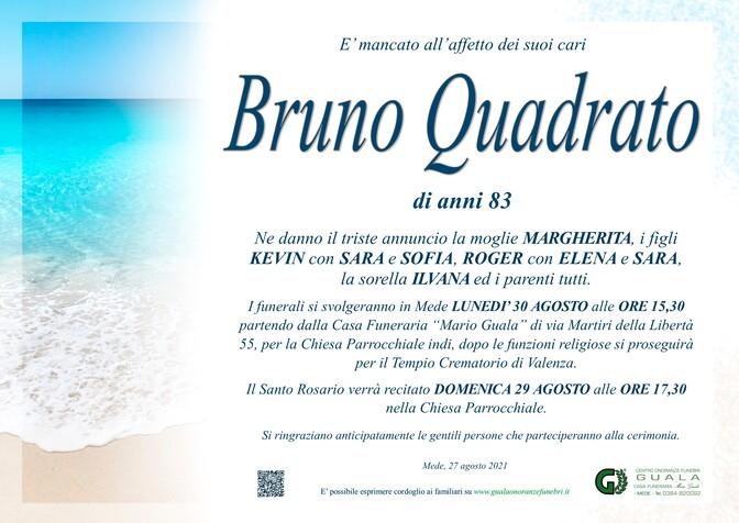 Necrologio di Bruno Quadrato