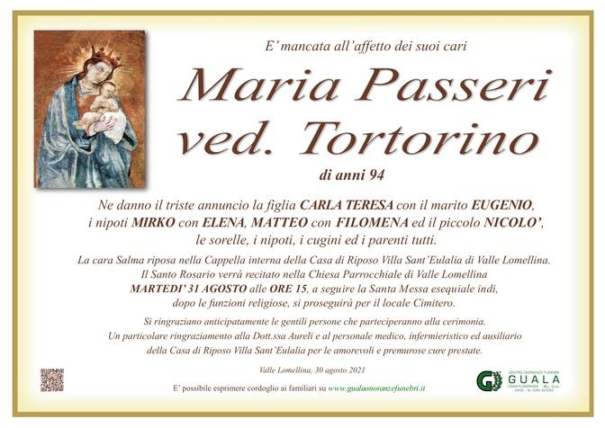 Necrologio di Maria Passeri ved. Tortorino