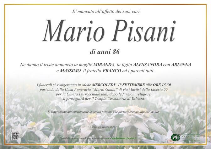 Necrologio di Mario Pisani