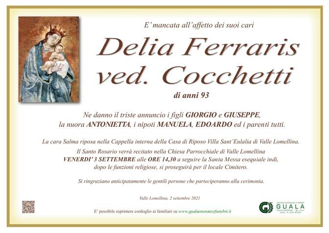 Necrologio di Delia Ferraris ved. Cocchetti