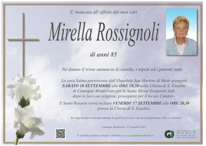 Necrologio di Mirella Rossignoli