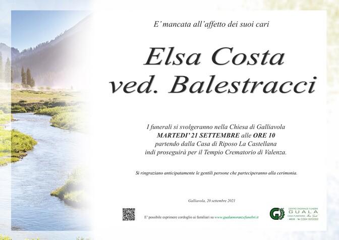 Necrologio di Elsa Costa ved. Balestracci