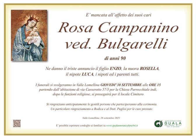Necrologio di Rosa Campanino ved. Bulgarelli