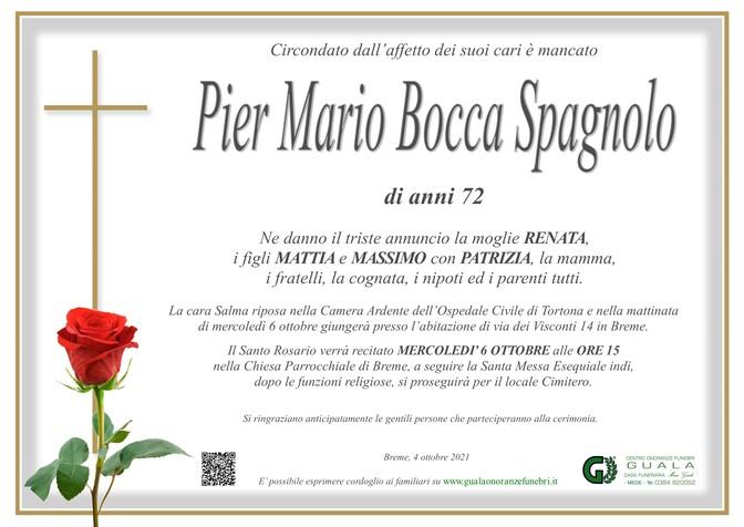 Necrologio di Pier Mario Bocca Spagnolo